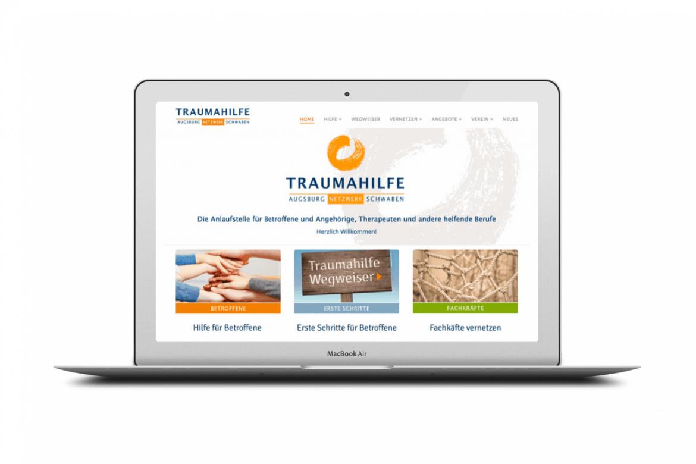webdesign, Tanja Leodolter, Traumahilfe Augsburg und Schwaben