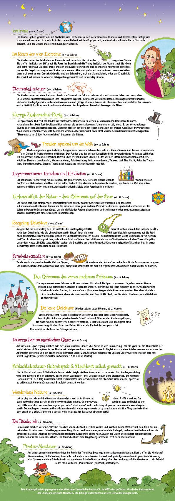 Illustration, Kindergeburtstag, Programm