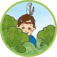 Illustration, Kindergeburtstag, Ökologisches Bildungszentrum München, Indianer Spielen
