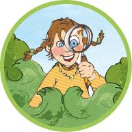 Illustration, Kindergeburtstag, Ökologisches Bildungszentrum München, Mädchen als Entdeckerin, Kinder forschen